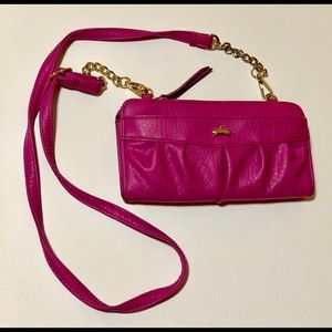 Juicy couture pink crossbody wallet
